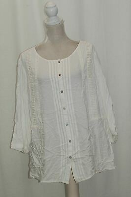 9c7a563943f JM COLLECTION WOMAN Plus Size Embroidered Tunic Bright White 2X ...
