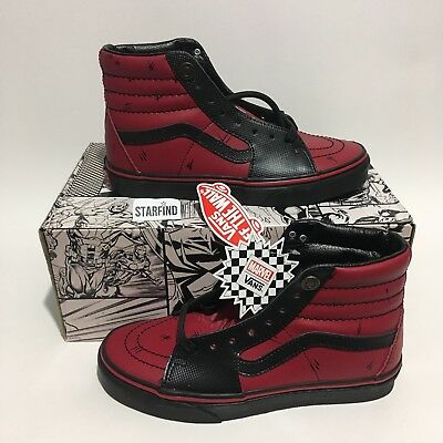 VANS SK8-HI Marvel Deadpool Red Black Size Men 5   Women 6.5 Shoes Rare 834ecf299