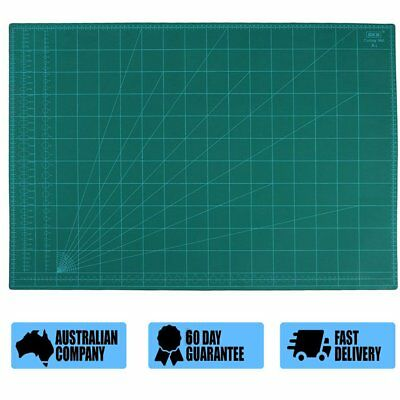 A1 Thick 5-Ply Self Healing Craft Cutting Mat 2-Side Print Quilting ON