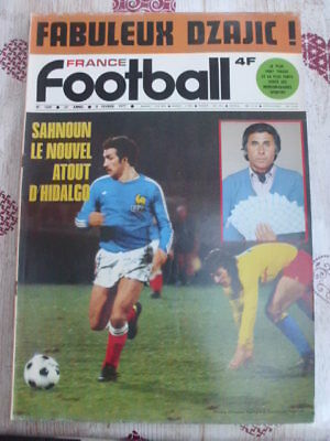 FRANCE FOOTBALL: un magazine dans lot n°1 ASSE, Carlos Bianchi, Oleg Blockhine..