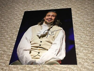 Hamilton Musical Broadway 8x10 Photo signed Lin-Manuel Miranda 1