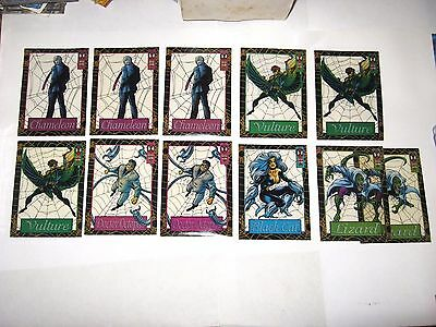 1994 Fleer Ultra Spider-Man Suspended Animation Insert 11 Card Lot! Black Cat!