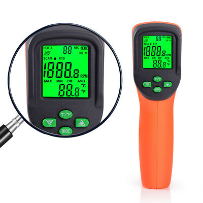 Digital LCD Laser Photo Tachometers Non-Contact RPM Tester Automatic Speed Meter