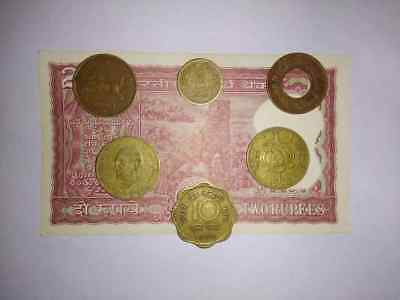 indian old 1,10,20 paise coin combo
