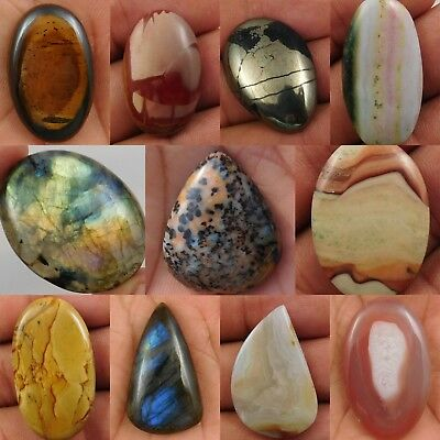 100% Natural Mix Stone Loose Cabochon Gemstone 7