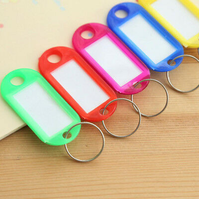 10pcs/pack Random Color Key Chain Blanks ID Label Tags For Baggage Luggage Tags