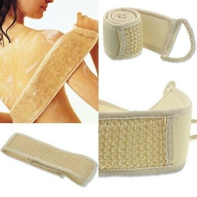 Exfoliant Loofah Loofa Bande Dos Bain Douche Éponge Corps Corps Ponceuse Brosse