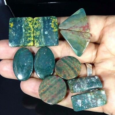 137.40Cts A+ Natural Blood Stone Pair Mix Cab Lot Loose Gemstone