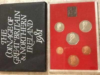 1981 Great Britain /& Northern Ireland 6 COIN Proof Set OGP
