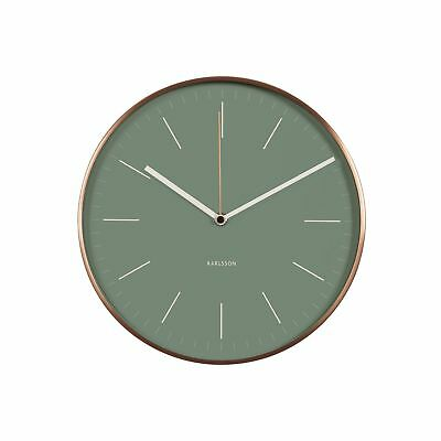 Karlsson Minimal Jungle Green Copper Case Wall Clock