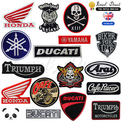Motor Bike Racing Embroidered Sew/Iron On Patch Badge