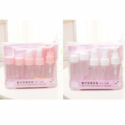 7pcs Empty Bottle Suit Portable Travel Cosmetic Dispenser Container Bottles @KH2