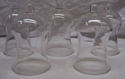 Home Interiors / Homco Votive Cups - 5 Tall Clear Traditions Design Votive Cups