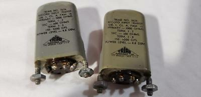 Vintage Triad Record Input Transformers (Pair) 3000 Ohm to 600 Ohm