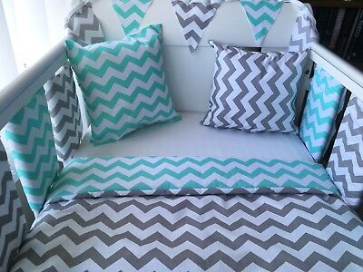 "💚 12"" Handmade Mint Green Chevron Zig Zag Cushion Cover 💚"