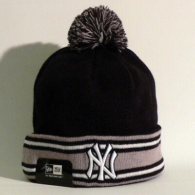 New York Yankees Beanie / Wollmütze - New Era - Baseball - MLB - Blau Grau - Neu