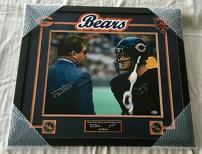 bfbcaa27a91 JIM MCMAHON SIGNED Autographed 8X10 W/ Mike Ditka Chicago Bears Fog ...