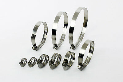 Worm-Drive Hose Clips Stainless Steel 304 Clamps Pipe US Perforated Type