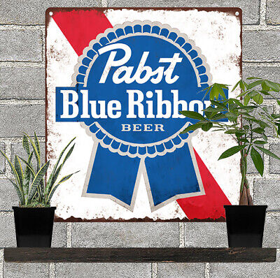 "Pabst Blue Ribbon Beer PBR Metal Sign Advertising Reproduction 11x12"" 60193"