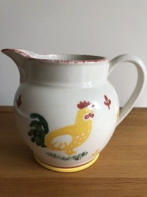 "Laura Ashley 1½ Pint Jug "" Hens "" Hand Painted Spongeware Vgc"