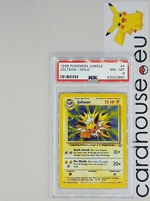 PSA 8 NM - MINT Jolteon Holo Jungle Unlimited 1999 Pokemon