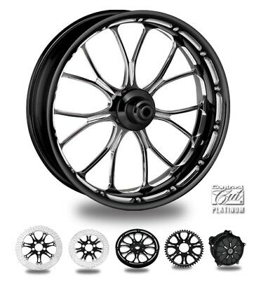 "Performance Machine Heathen Front Forged Wheels 23"" x 3.5"" Platinum Cut Non-ABS"