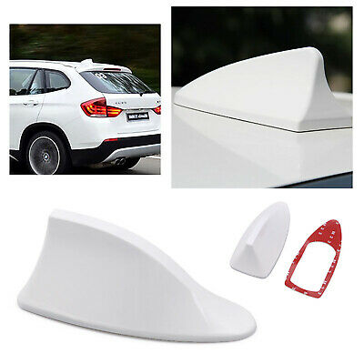 Universal Car Auto SUV Roof Radio AM/FM Shark Fin Signal Antenna White | LIFAFA