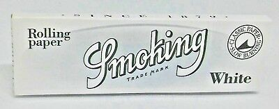 Smoking White 1 1/4  Cigarette Rolling Papers - Lot of 5 Packs