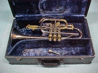 King Tempo Nickel & Brass Cornet, in Gently Used Condition.