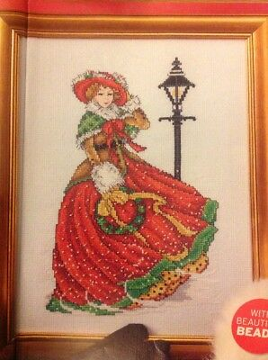 Joan Elliott Victorian Historical Lady Christmas Cross Stitch Chart