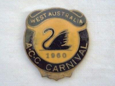 Vintage Collectable 1960 Western Australia ACC Carnival Badge Pin