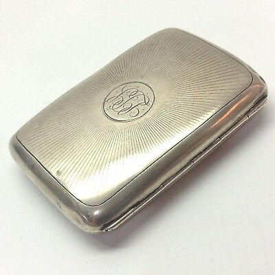 Antique Solid Sterling Silver 1906 Cigar Cheroot Cigarette Case