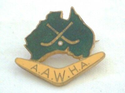 Vintage Collectable Australian Amateur Womens Hockey Assocn Badge Pin by Stokes