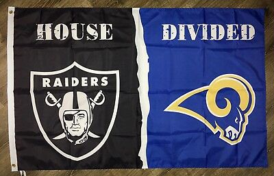 Oakland Raiders vs Los Angeles Rams FLAG 3x5 ft NFL Sports Banner Man-Cave NEW
