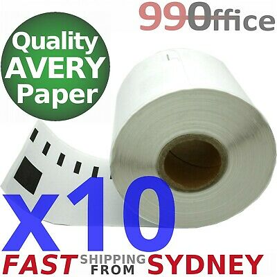 10x Compatible Dymo SD99014 Rolls, 54x101mm, 220 labels per roll, eParcel Sydney