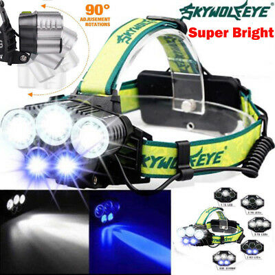 Rechargeable 90000LM T6 LED Headlamp Headlight Light Flashlight Head Torch Lamps
