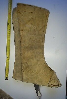 One Handmade Leather Greave, Royal Shakespeare Co. Light Brown. Left Leg Only.