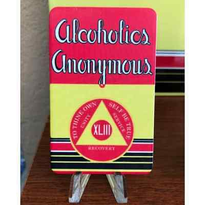 "AA Big Book ""First Edition"" Yearly Alcoholics Anonymous 43 Year AA Chip"