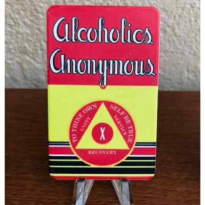 "AA Big Book ""First Edition"" Yearly Alcoholics Anonymous 10 Year AA Chip"