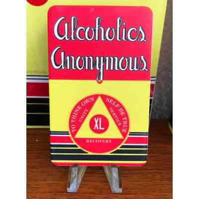 """AA Big Book """"First Edition"""" Yearly Alcoholics Anonymous 40 Year AA Chip"""