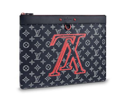 c8be8867042d NEW AUTH LOUIS VUITTON Apollo Upside Down Ink Monogram Discovery Pochette  Pouch -  1