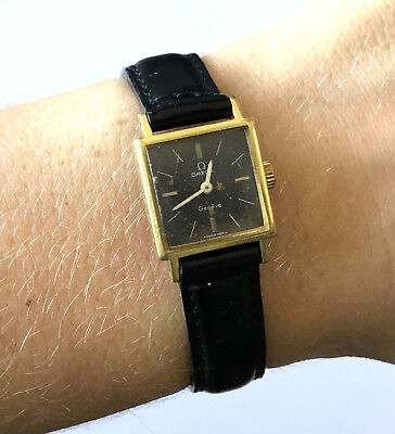 Vintage Omega 485 Geneve Fab Suisse Swiss Manual Wind Up Ladies Watch Runs