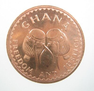 Ghana 1/2 Pesewa 1967 Gem Proof African Tribal Drums Star 98# Money Coin