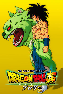 Dragon Ball Super Broly 2018 Movie Broly and Baah Poster 12inx18in Free Shipping
