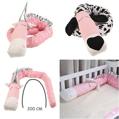 Baby Bumper Crib Infant Bedding Newborn Cotton Printed Crib Protector for Infant