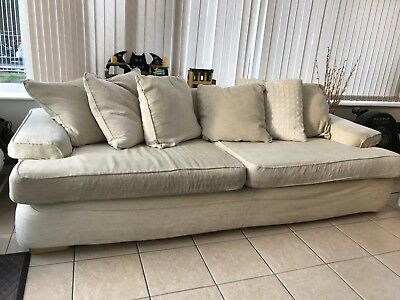 Dfs Cream 4 Seater Sofa And Armchair 0 01 Picclick Uk