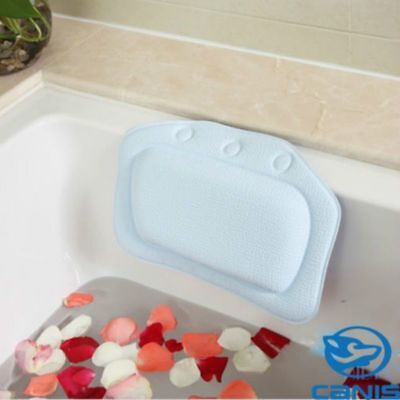 Bathroom Inflatable Bath Cushioned Pillow Back Neck Bathtub Rest Relaxing Sofe