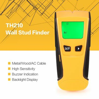 TH210 Wall Stud Center Finder Scanner Wood Metal Rebar AC Live Wire Detector QC
