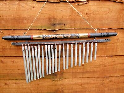 Hand Made XL Large Metal And Wooden Dreamchime Pipes Wind Chime Mobile Windchime