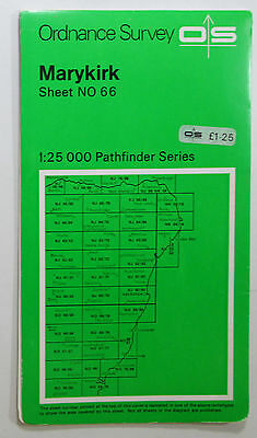 1979 old OS Ordnance Survey Second Series 1:25000 Pathfinder Map NO 66 Marykirk